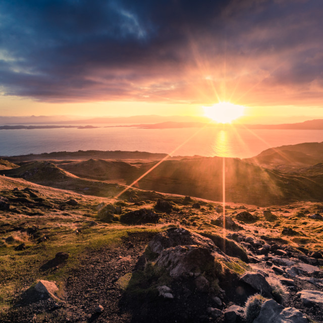 """Sunrise Scotland"" stock image"