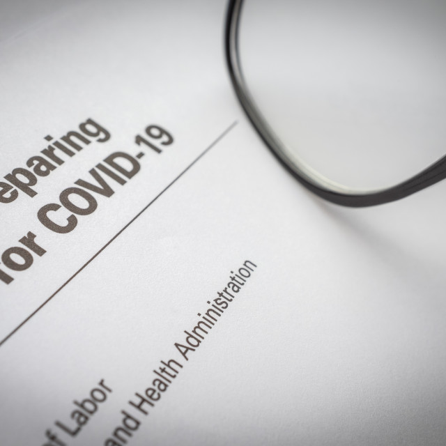 """""""Government Guidelines For The Coronavirus Outbreak"""" stock image"""