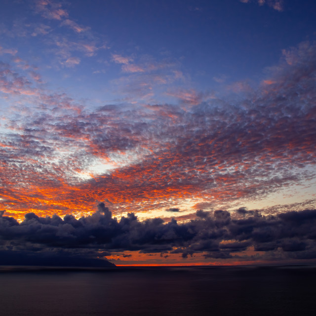 """Los Gigantis Sunset in Tenerife"" stock image"
