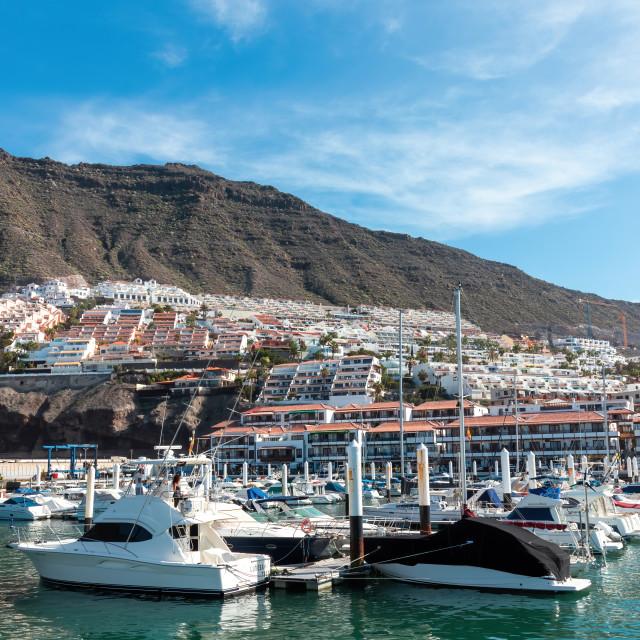 """Los Gigantis Harbour Tenerife"" stock image"