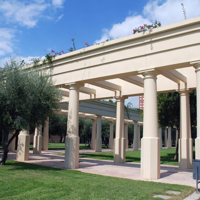 """""""Jardin del Turia, Valencia"""" stock image"""