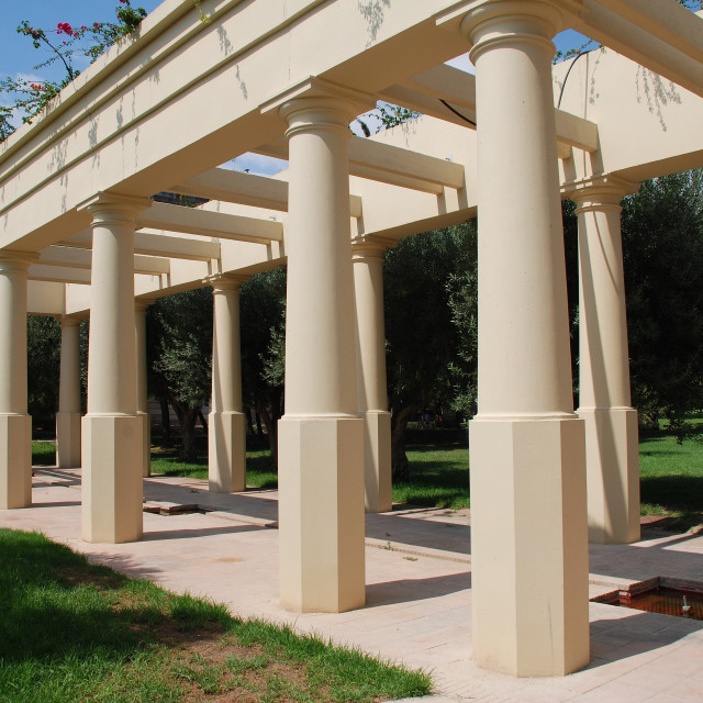 """""""Colonnade in Turia river park"""" stock image"""