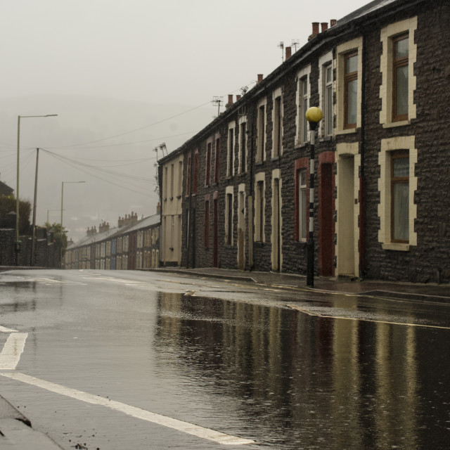"""""""Cymmer hill, Porth."""" stock image"""