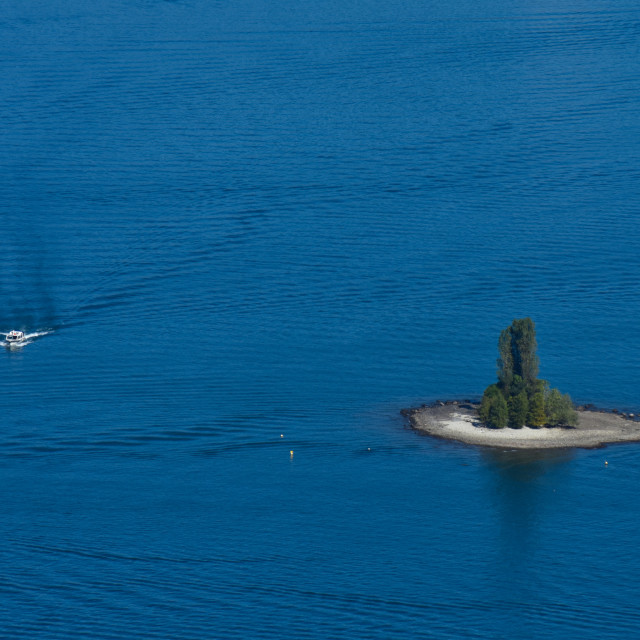 """""""An Islet on Lake Maggiore"""" stock image"""