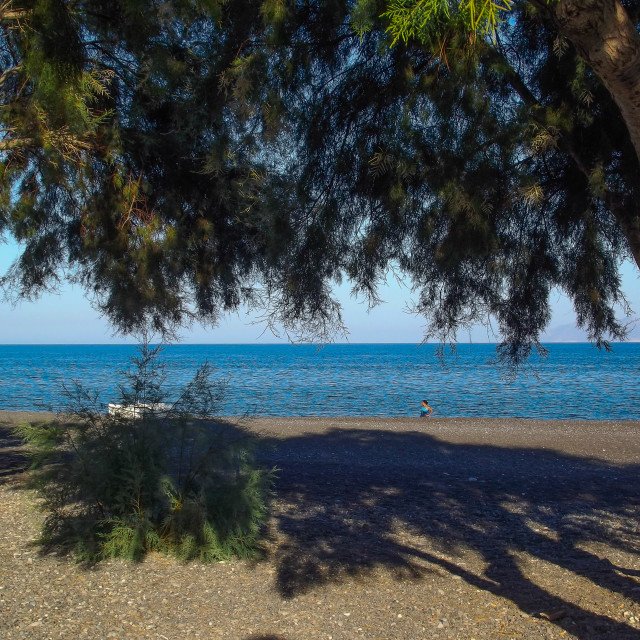 """Beach Santorini"" stock image"