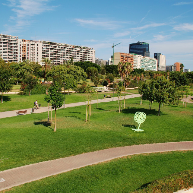 """Turia river park, Valencia"" stock image"