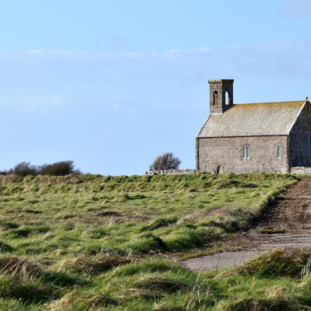 """A view of Flimston Chapel"" stock image"