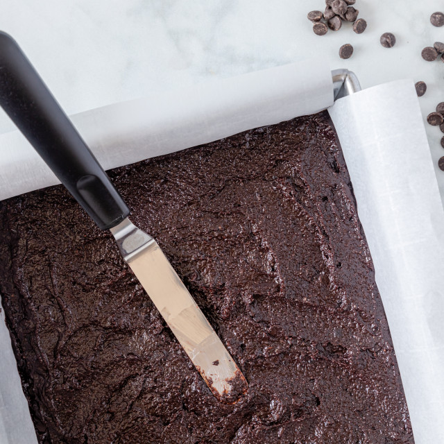 """Making of keto chocolate brownies"" stock image"