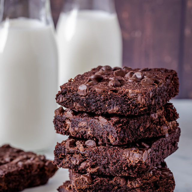"""Keto chocolate brownie dessert"" stock image"