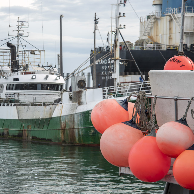 """Fishin boats"" stock image"