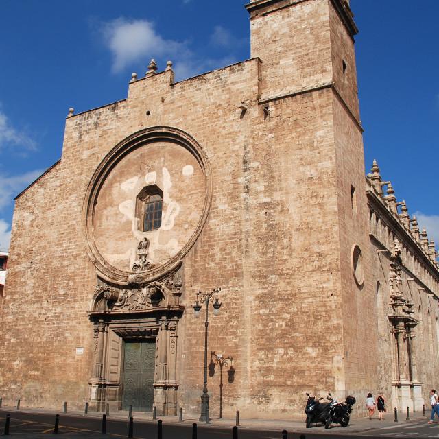 """Church of Santos Juanes, Valencia"" stock image"