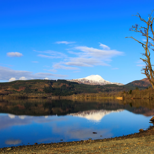 """Loch Ard on a lovely spring morning"" stock image"