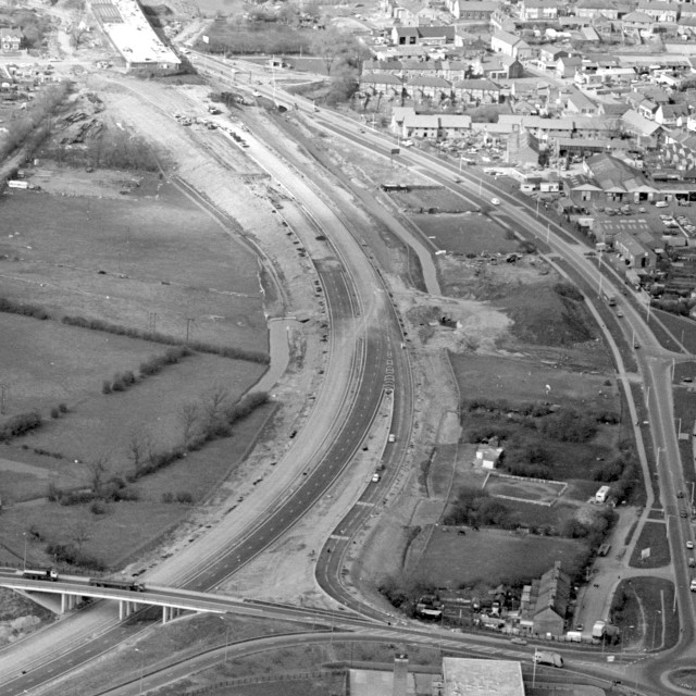 """""""Stanground and Fletton Parkway (1982)"""" stock image"""