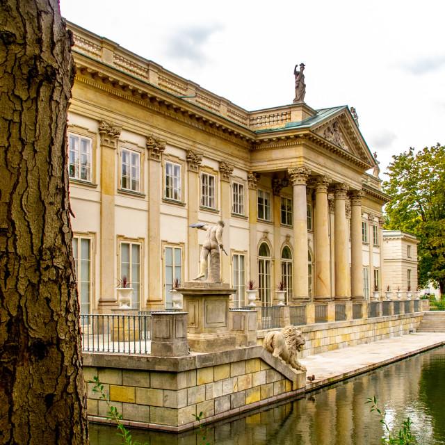 """Royal Baths (Łazienki Park), Warsaw"" stock image"