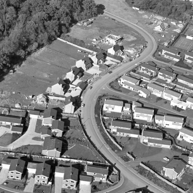 """Holywell Way, Longthorpe Green (1979)"" stock image"