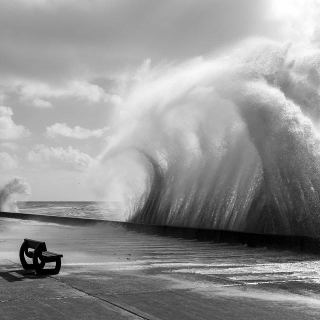 """""""Waves At Saltdean"""" stock image"""