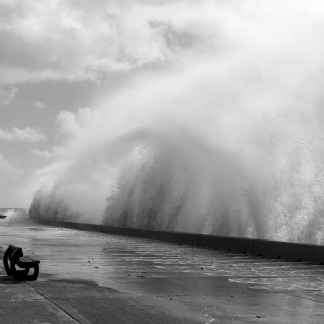 """More Waves At Saltdean"" stock image"