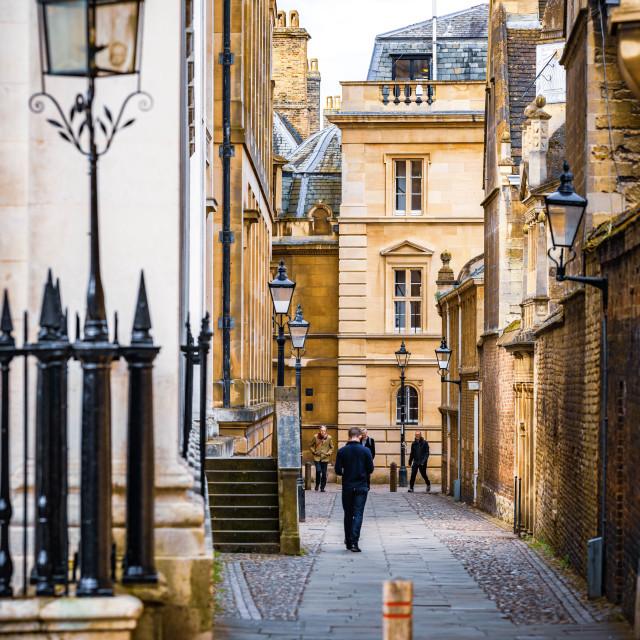 """Senate House Passage, Cambridge UK."" stock image"
