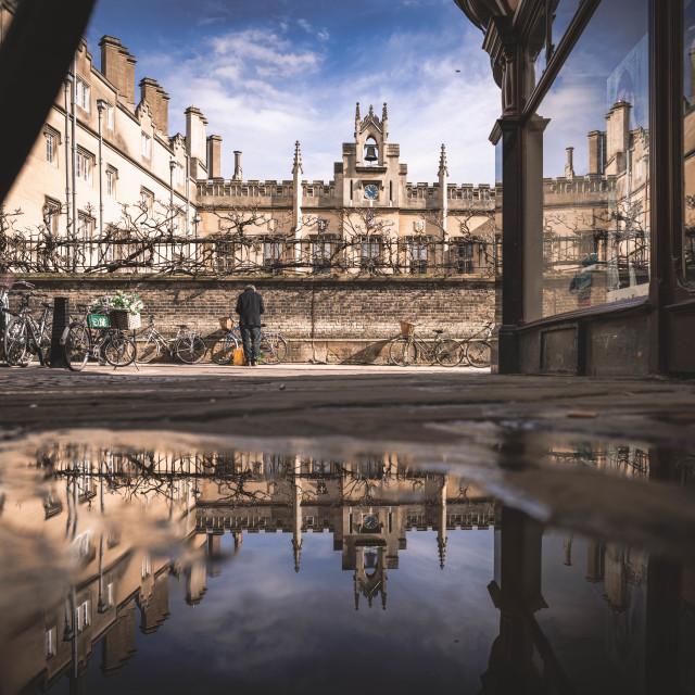 """Sidney Sussex College, University of Cambridge UK."" stock image"