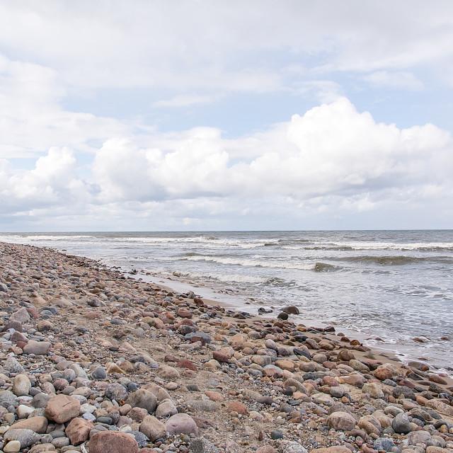 """""""Beach in Jastrzebia Góra (Poland)"""" stock image"""