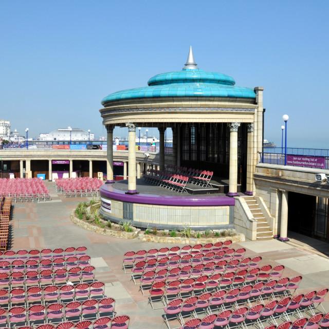 """""""Eastbourne Bandstand"""" stock image"""
