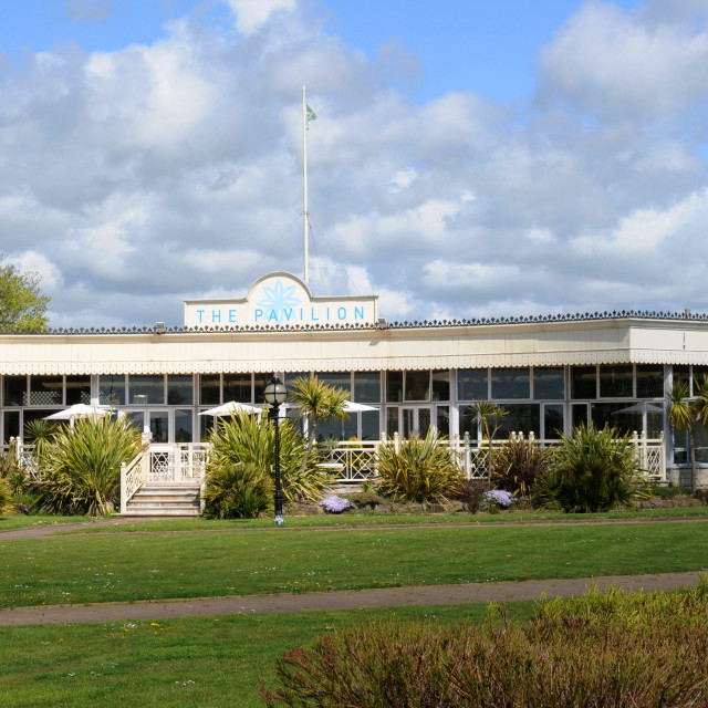"""""""The Pavilion tea Rooms Eastbourne"""" stock image"""