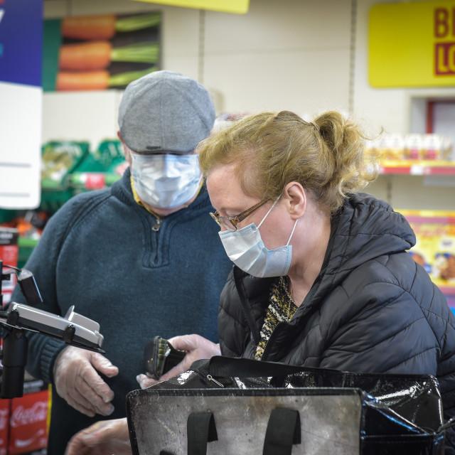 """Iceland Early Shopping"" stock image"