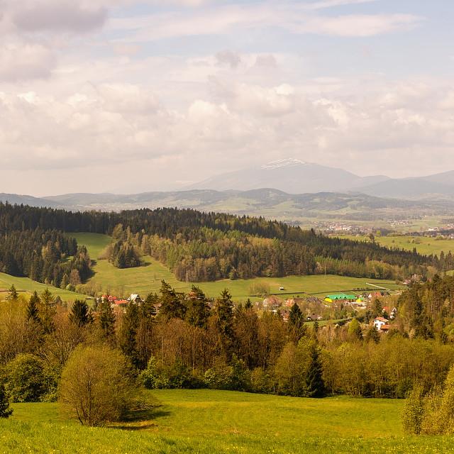 """""""Mountains """"Gorce"""" near Rabka Zdroj (Poland)"""" stock image"""