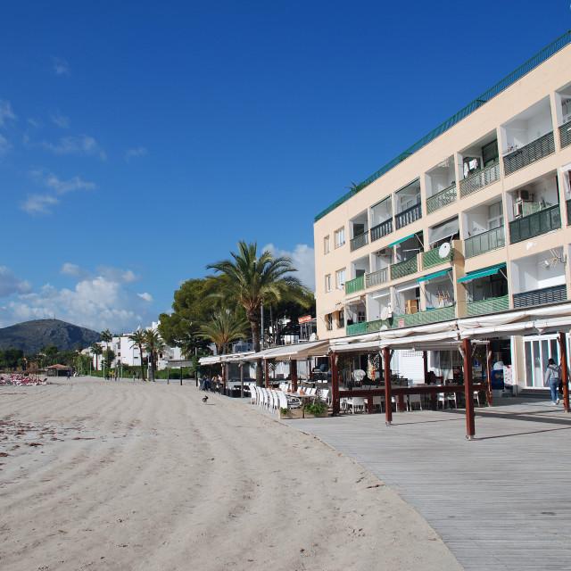 """Alcudia seafront, Majorca"" stock image"