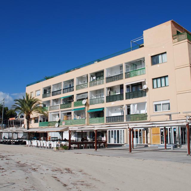 """Alcudia seafront on Majorca"" stock image"