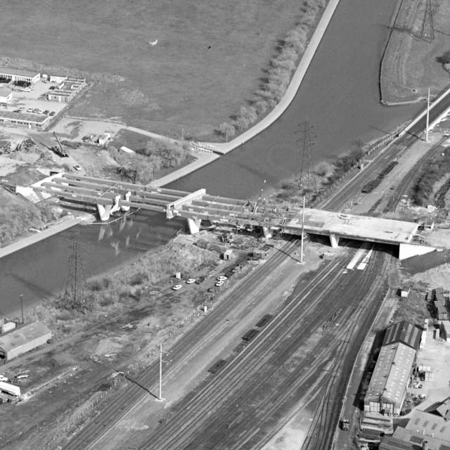 """Frank Perkins Parkway Bridge (1983)"" stock image"