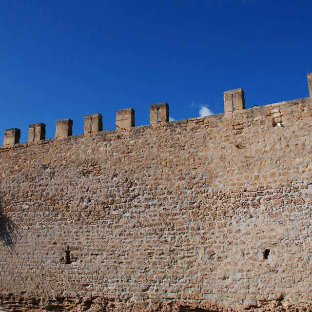 """""""Alcudia Old Town wall, Majorca"""" stock image"""