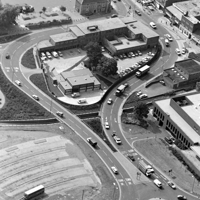 """Bridge Street Police Station (1984)"" stock image"