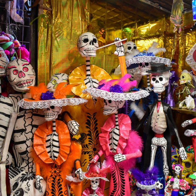 """""""Skeletons with sombreros Mexico"""" stock image"""