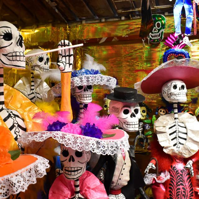 """""""Skeletons for Día de los Muertos"""" stock image"""