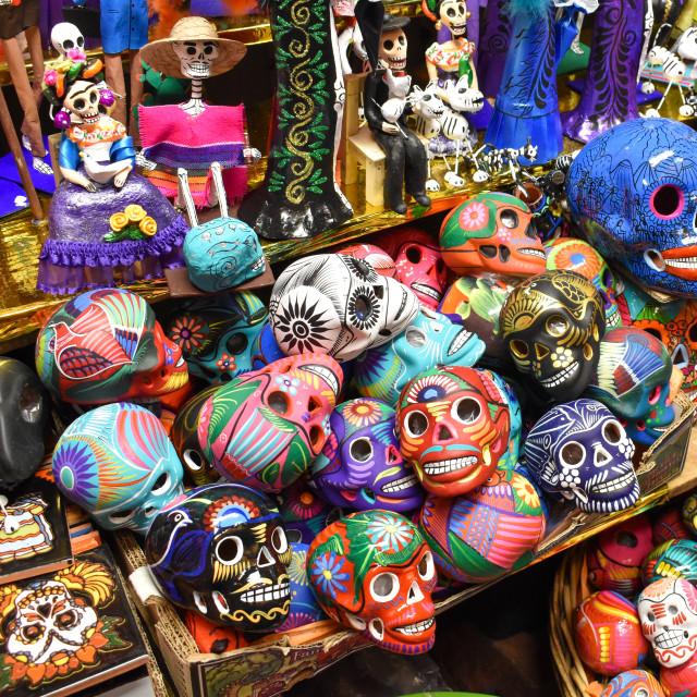 """Mexican Sugar Skulls"" stock image"