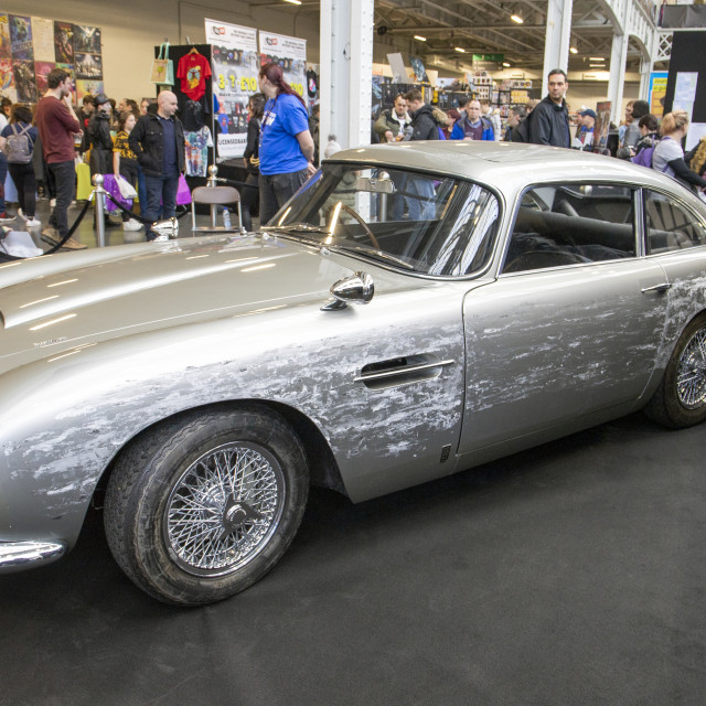 """James Bond DB5 No Time To Die London Comic Con Spring"" stock image"