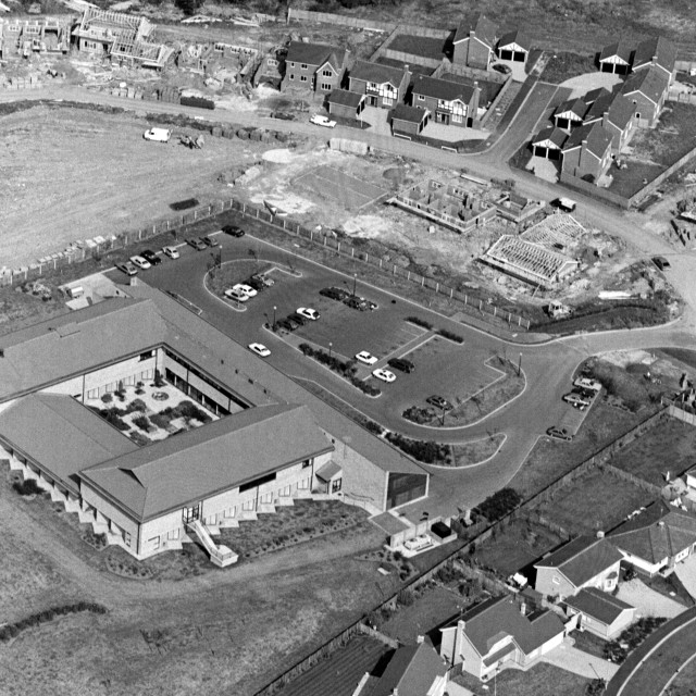 """""""Fitzwilliam Hospital (1984)"""" stock image"""