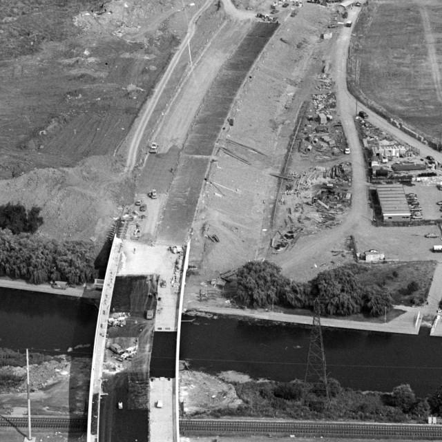 """Frank Perkins Parkway Bridge (1984)"" stock image"