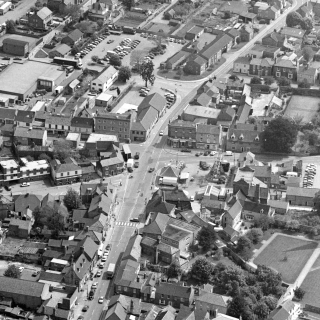"""""""Whittlesey Town Centre (1984)"""" stock image"""