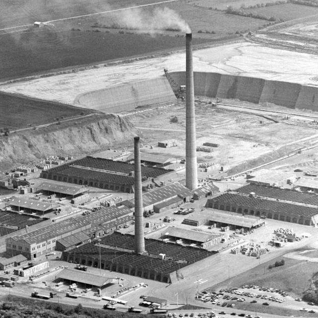 """""""Kings Dyke Brickworks (1984)"""" stock image"""