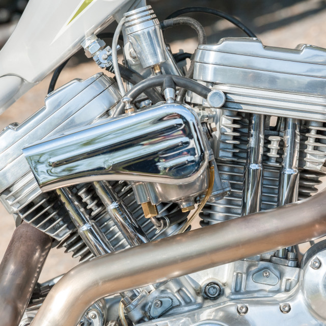 """motorcycle engine and exhaust"" stock image"