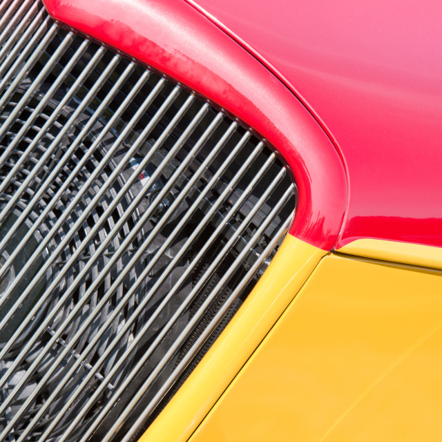 """red and yellow vehicle panels"" stock image"