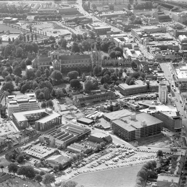 """City Centre (1981)"" stock image"