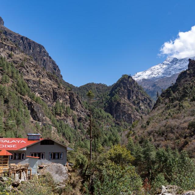 """""""Himalya Lodge"""" stock image"""
