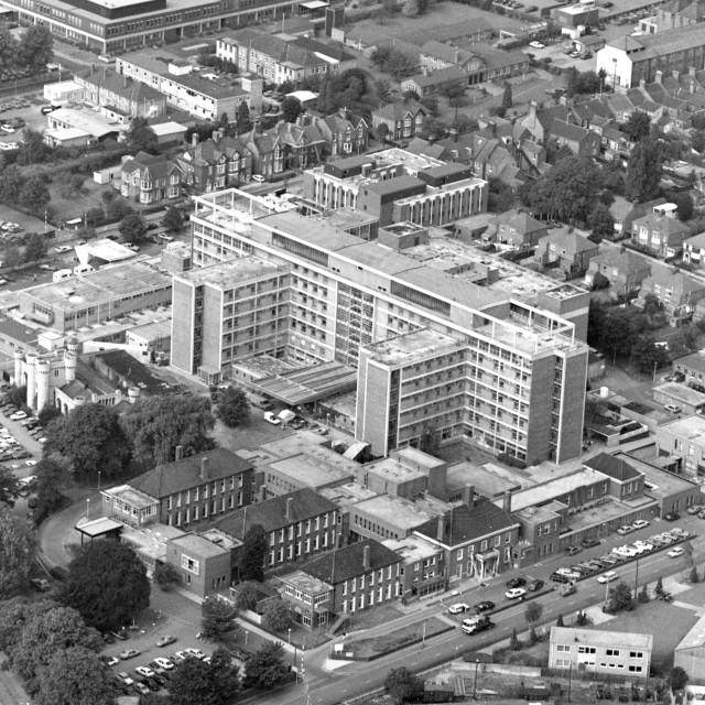 """Hospital and Midland Road (1984)"" stock image"