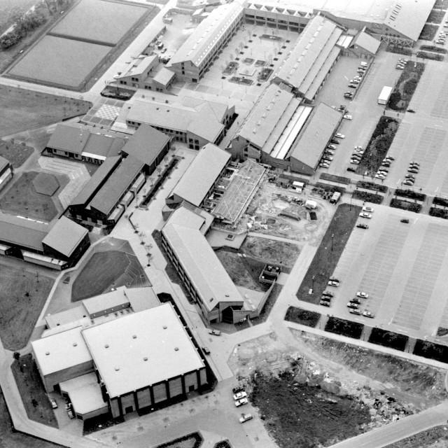 """""""Orton Centre (1981)"""" stock image"""