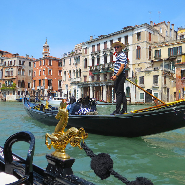"""Gondola on the Grand Canal in Venice"" stock image"