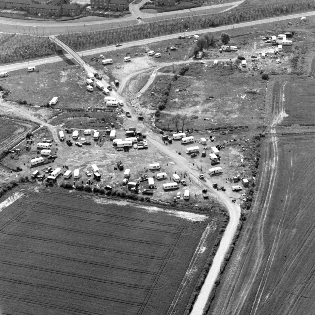 """""""Paston Ridings Travellers Site (1983)"""" stock image"""