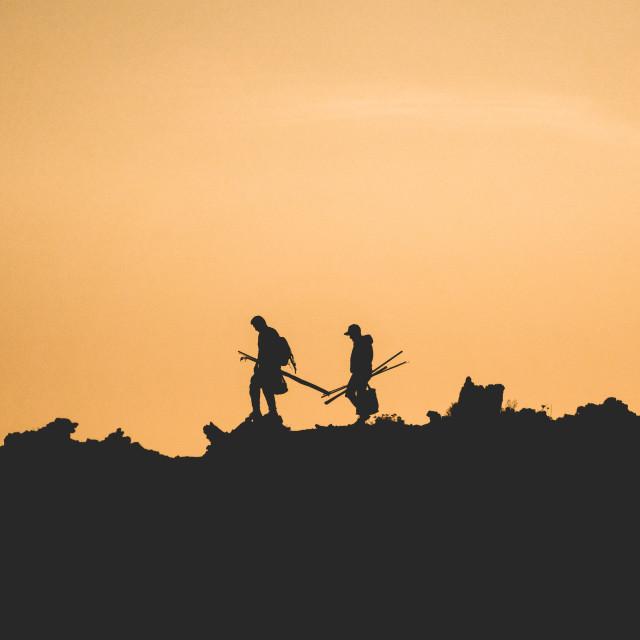 """Two Fishermen"" stock image"